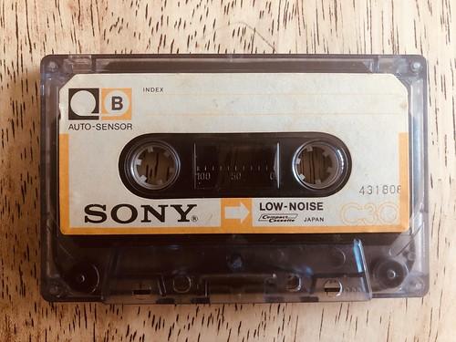 An original SONY cassette