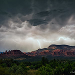 26. August 2020 - 20:53 - 'Electric Night in Sedona:' While it may not be my 'fantasy shot' I was hoping to capture this year, I was grateful to have witnessed this amazing, yet surprisingly silent, electrical storm that grazed the red rocks near Sedona. I'm always grateful for some help with natural lighting at night to increase visibility of the landscape, and on this night I had a bit of help from the moon, which was peaking out from the clouds behind and overhead of me.
