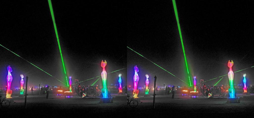 Burning Man 2019 - Cathenge 3D Cross-View