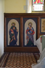 St Mark and St Matthew (painted tin sheets, 1866)