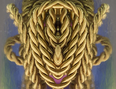 Gold rope mask