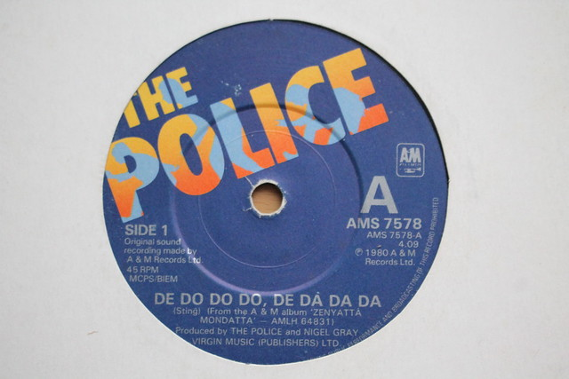 Dee Do Do Do, De Da Da Da The Police 45 Single 1980