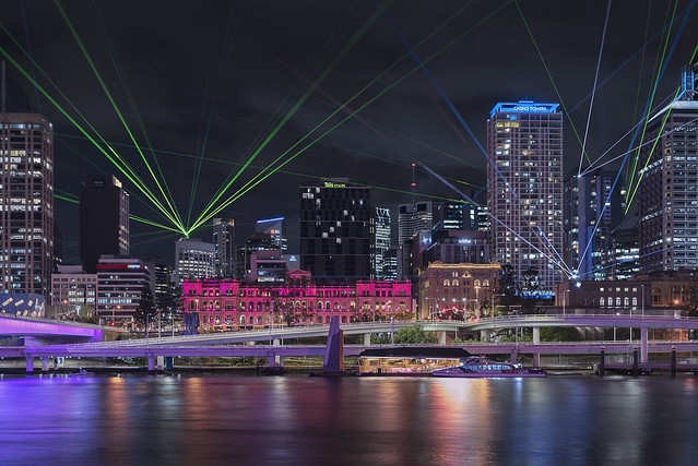 Laser Beams Over The Casino