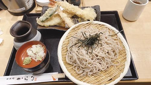 地域振興券で天ぷら蕎麦