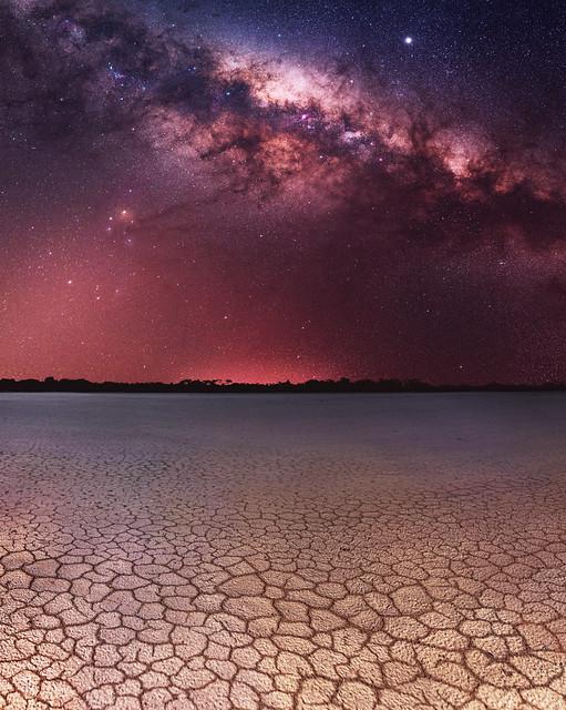 Milky Way at Nambling Lakes - Dowerin, Western Australia