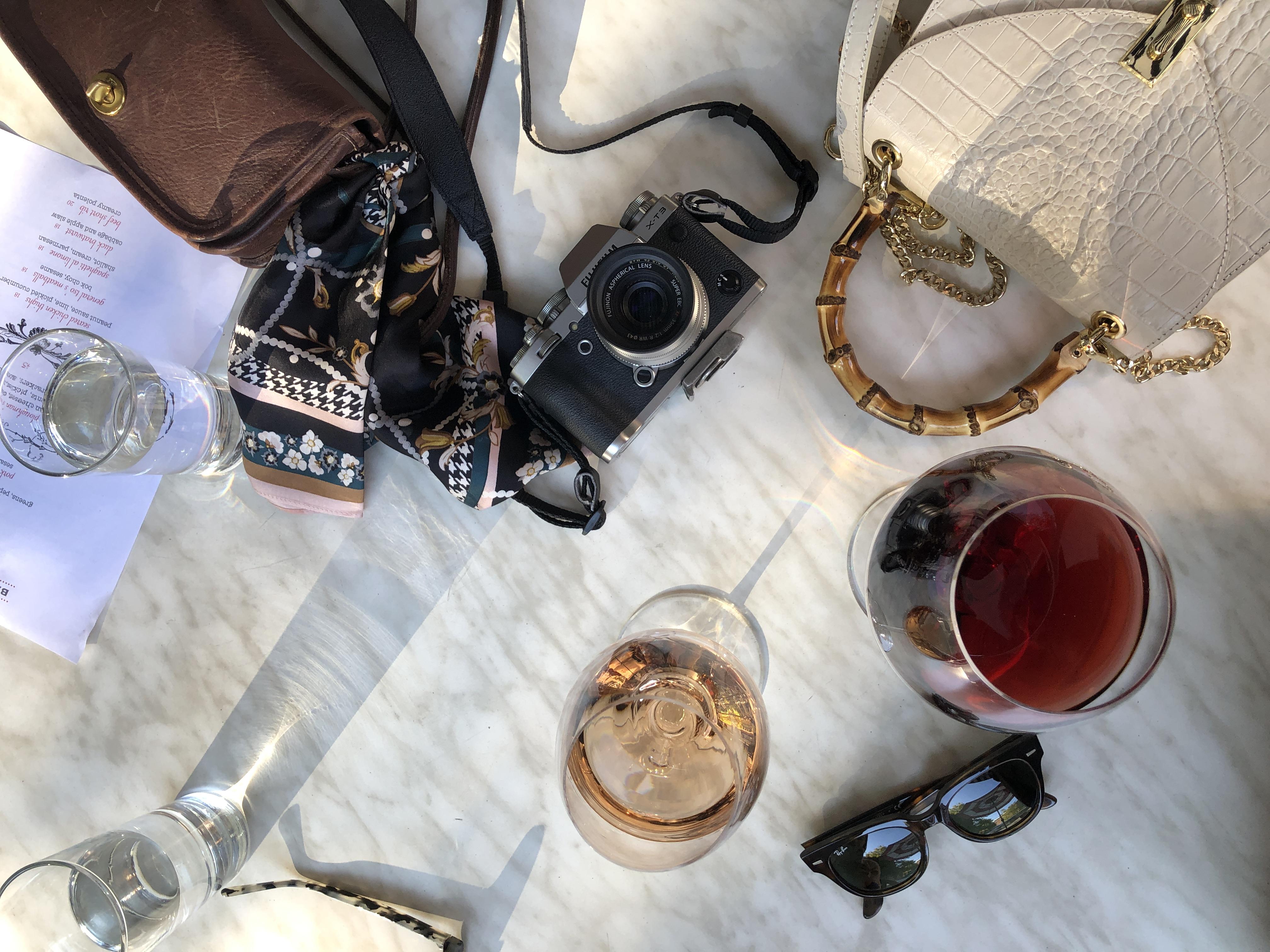wine and camera
