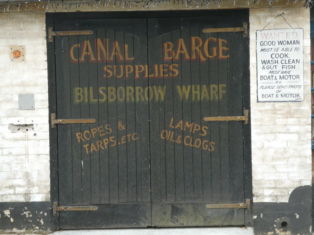 Bilsborrow - Guys Thatched Hamlet [Sign - Canal Barge Supplies] 200618