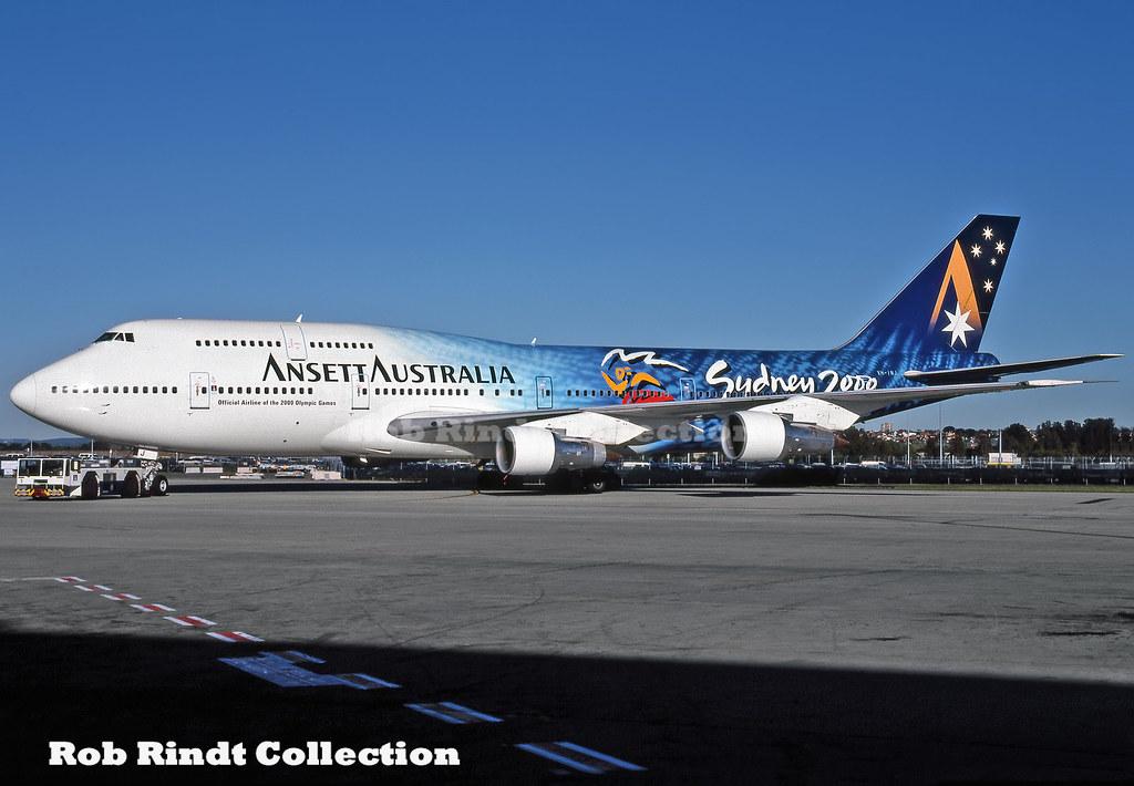 Ansett Australia B747-312 VH-INJ