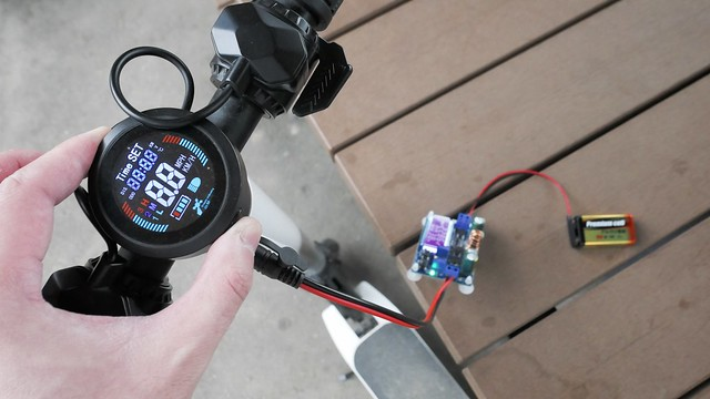 Electric kick scooter + DC Boost Converter.