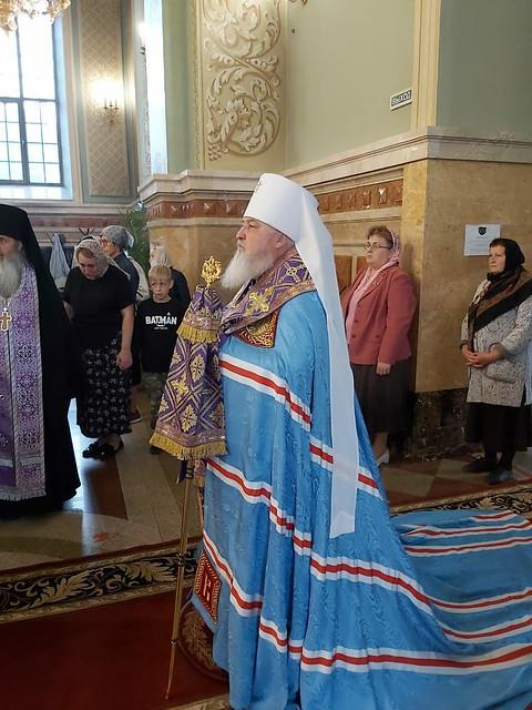 26 сентября 2020, В канун праздника Воздвижения Креста митрополит Кирилл совершил всенощное бдение
