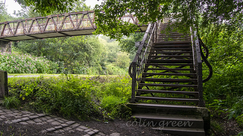 Steps to Copley Footbridge