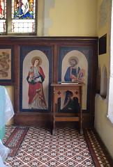 St John and St Luke (painted tin sheets, 1866)