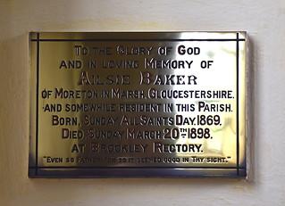 Died at Brockley Rectory