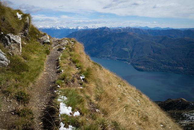 hiking above Lago Maggiore (Ticino)