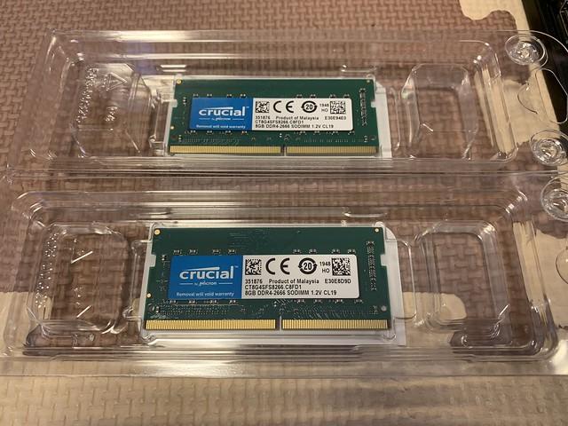 Memory 8GB x 2