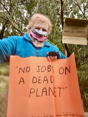 No jobs on a Dead Planet. Very few jobs in gas extraction, it only accelerated global warming. September 25 Global climate strike in Melbourne under pandemic lockdown.  #myMoreland #fundourfuturenotgas