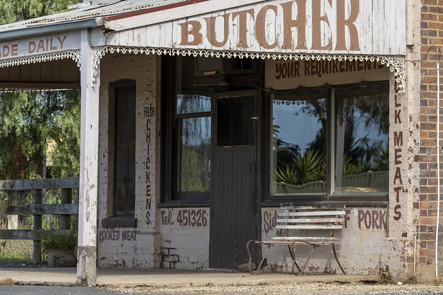 Vintage Butcher as in the Wild West