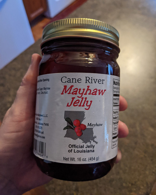 A jar of mayhaw jelly