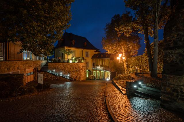 evening mood on castle Montabaur