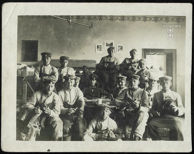 ArchivTappenY562 WWI, Feldgraue, Unterkunft, Stube, 1914-1918