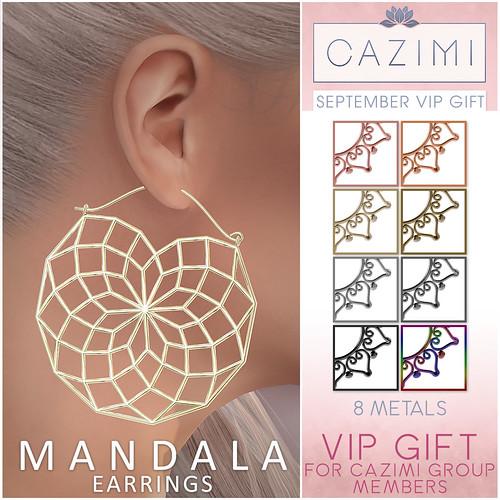VIP Gift: Mandala Earrings