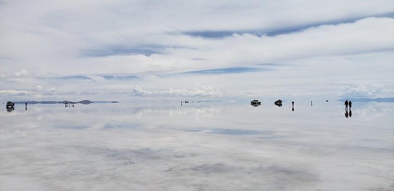Playa Blanca at 3,656 meters (11,995 ft) above sea level, Salar de Uyuni, Potosí, Bolivia.