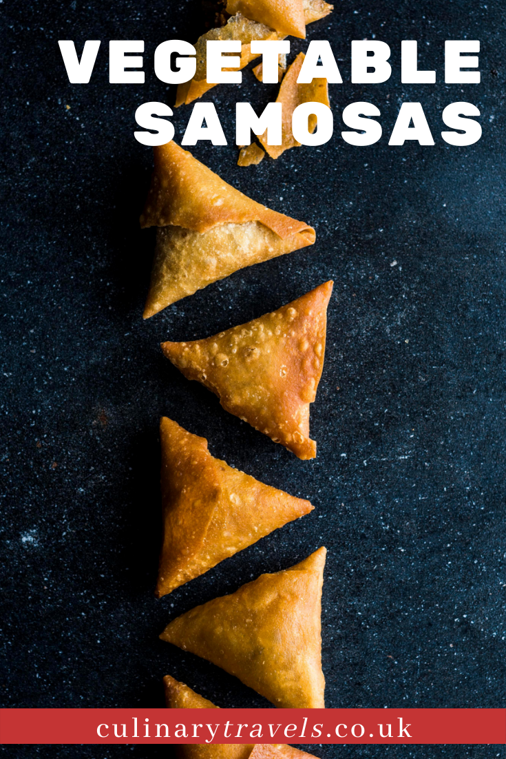 Crisp Indian pastries filled with a lightly spiced vegetable blend.