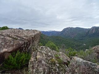 Chjassu supranu di I Carbunari : vue Paliri - Alcudina (neige))