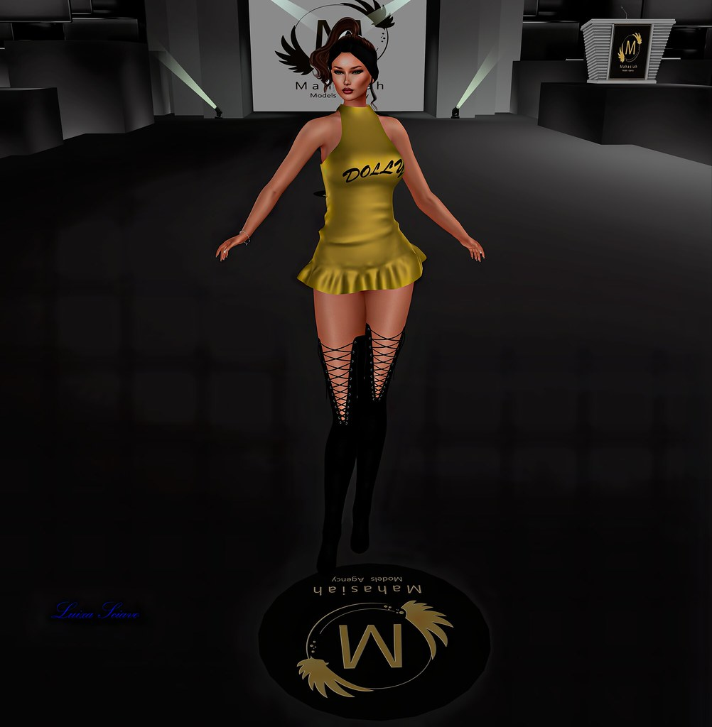 Luixa - FASHION WEEK 2020 - Glitter Dolly Fitmesh Minidress