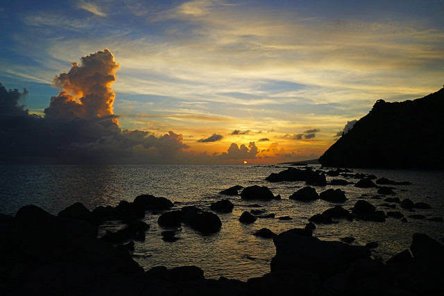 Caribbean sunset glory, Carambola Beach, St Kitts