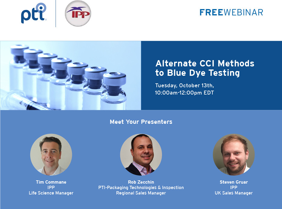 Alternate CCI Methods to Blue Dye Testing | Tuesday, October 13th, 10am-12pm EDT