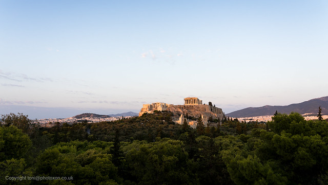 Acropolis at sundown from Filopappas hill-02202