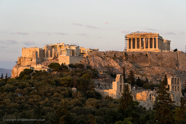 Acropolis at sundown from Filopappas hill-02198