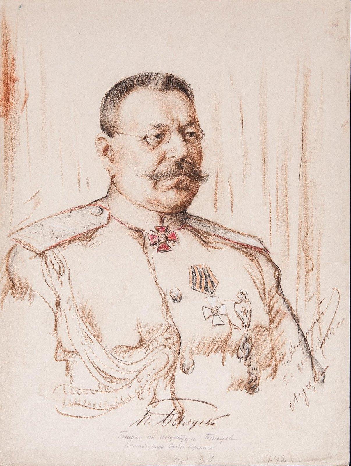 1916. Портрет генерала от инфантерии Петра Семеновича Балуева (1857-1923).