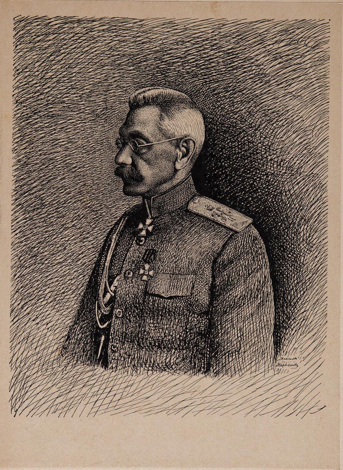 1916. Портрет генерала от инфантерии Николая Владимировича Рузского (1854-1918)
