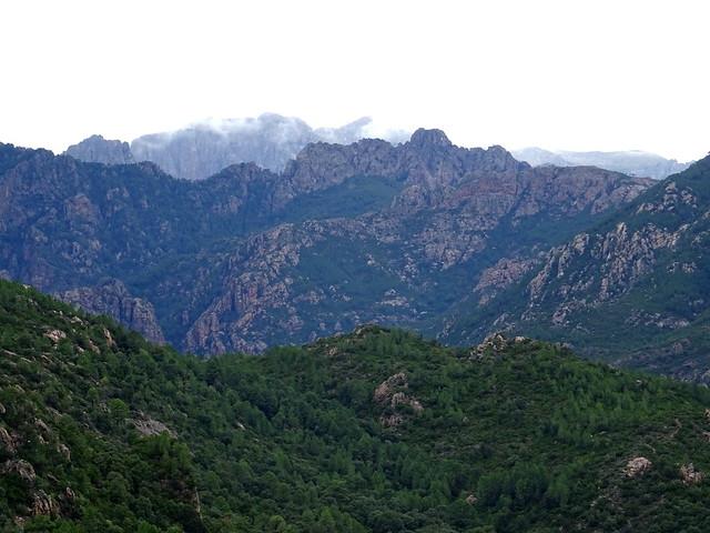 Chjassu supranu di I Carbunari : vue Paliri - Alcudina (neige)