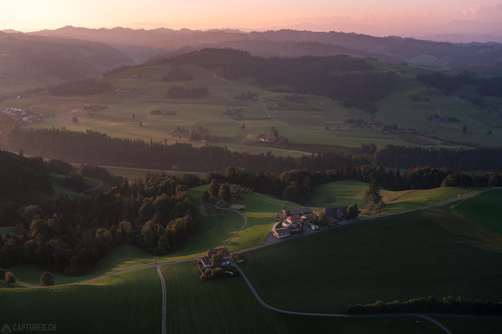 Monring light over the hills - Schonegg