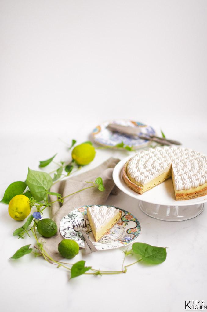 Crostata vegan al limone e crema di cocco