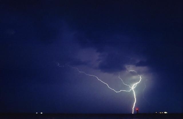 Storm in Thermaikos Bay, Thessaloniki