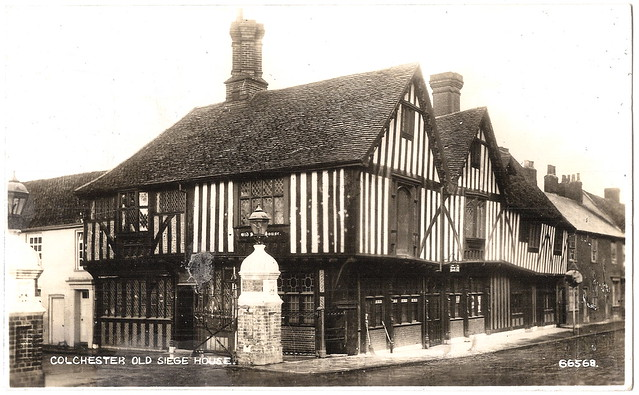 Colchester - Old Siege House Prior to 1941. And Art Garfunkel.