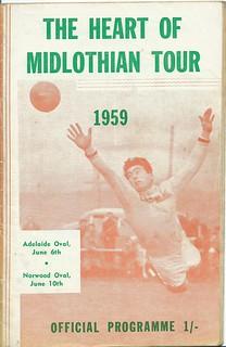 Australia v Hearts 6th June 1959