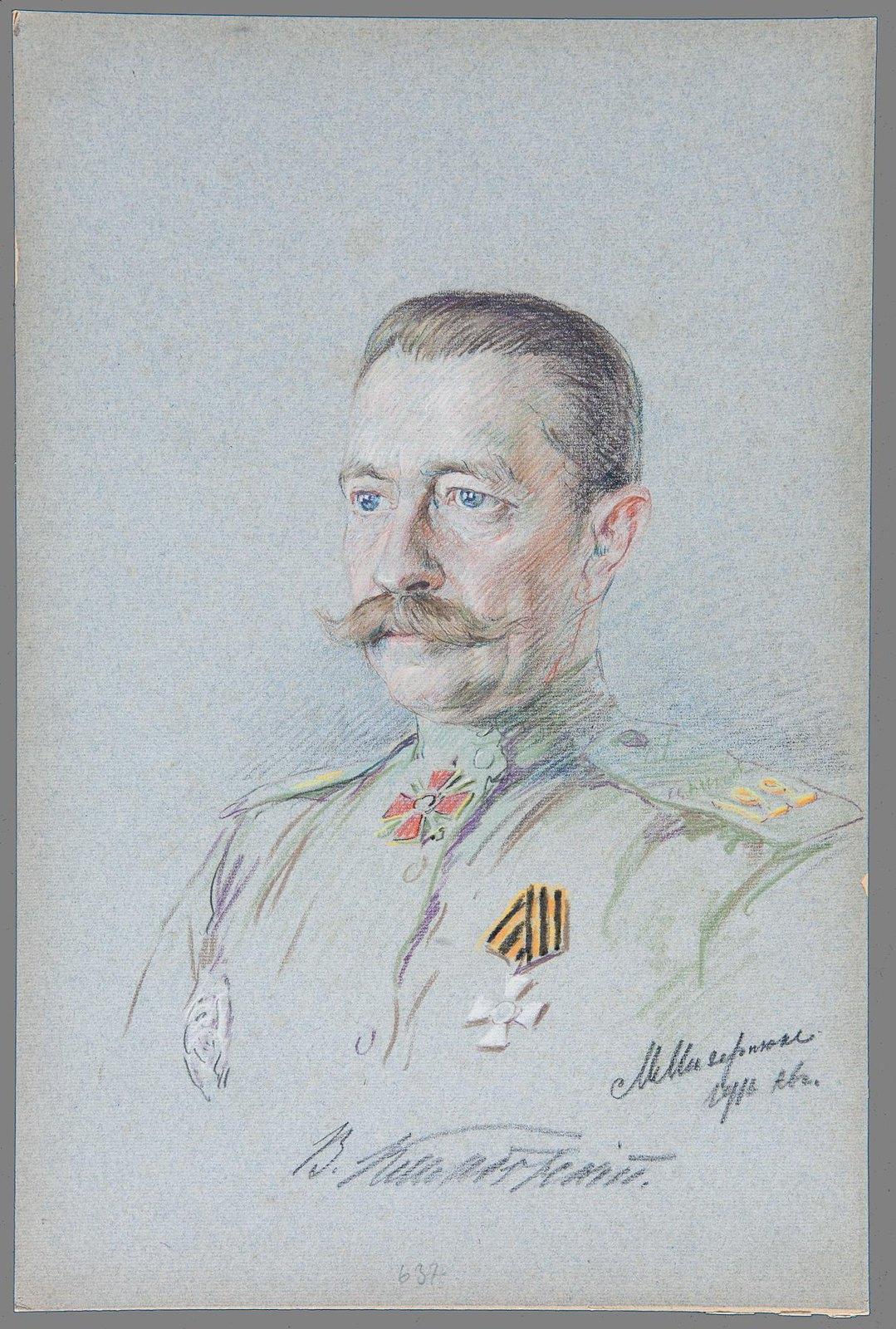 1916. Портрет генерала от инфантерии Владислава Наполеоновича Клембовского (1860-1921)