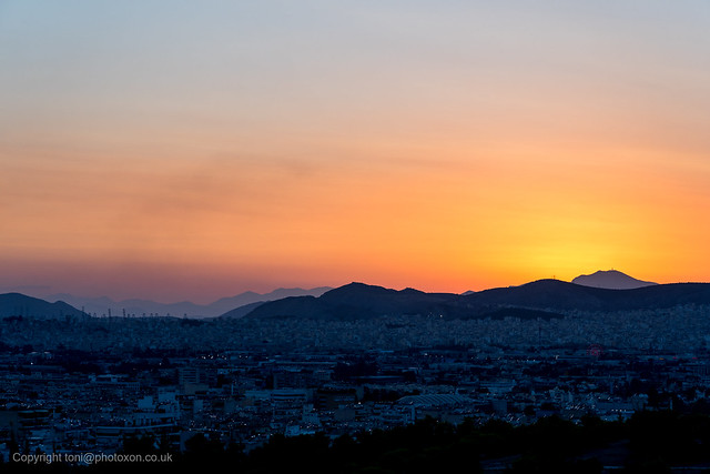 Sunset from Filopappas hill-02214