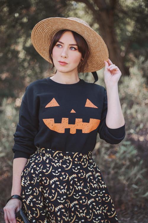 Unique Vintage Jack-O-Lantern Sweatshirt