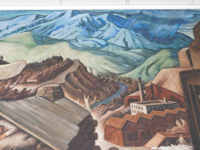 Provo Utah Post Office Mural Detail