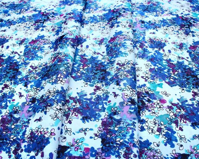 RJR Fabrics Ink Rose RJ1802-DT3 Lili Flowers Dark Teal