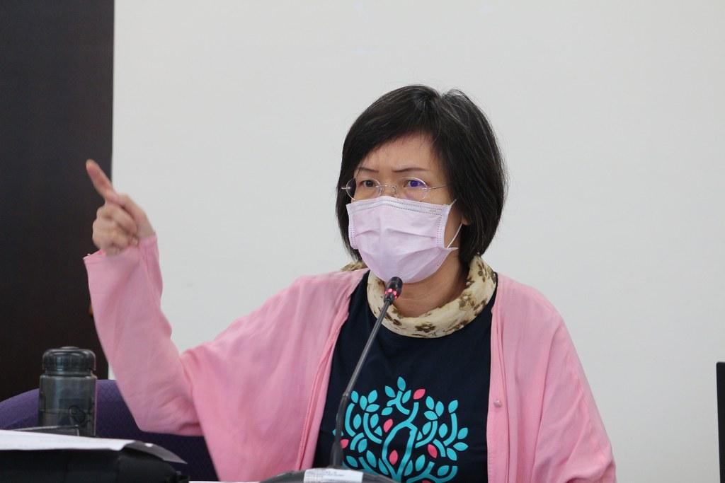 地球公民基金會副執行長王敏玲要求環保署調高粒狀污染物、鉛、鎘、汞、 砷、六價鉻及