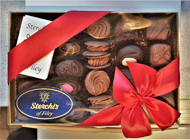 A Box of Handmade Chocolates.