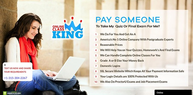OnlineClassKing main page