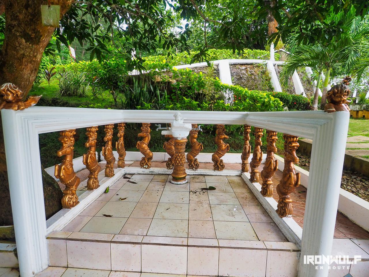 A foot bathing area (?)